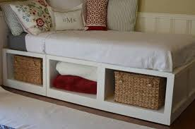 Diy Twin Bed Frame With Storage Twin Bed Storage … | beds with ...