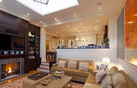 Open Plan Living Room And Kitchen With Flat Screen TV  Picture Of Kitchen And Living Room Open Plan