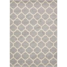 unique loom trellis light gray 7 x 10 rug