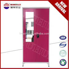 Locker Bedroom Furniture 2 Door Clothing Steel Locker Wardrobe 2 Door Wardrobe With
