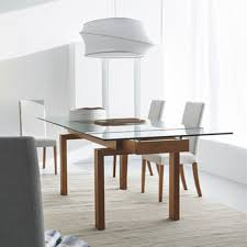 best extendable glass dining table in simple home decoration of