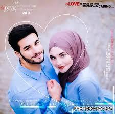 very cute muslim couple in hijab