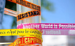world as global sin globalism pros and cons social movements anti capitalism and anti globalization banners photo by guillaume paumier