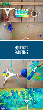 Squeegee Painting with make-it-your-own.com (Creative activities for
