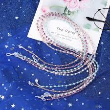 1pc Metal Link Chain Pearl <b>Beads</b> Ball Tassel Glasses Chains ...