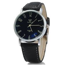 yazole 299 business quartz watch leather band for men black yazole 299 business quartz watch leather band for men black black