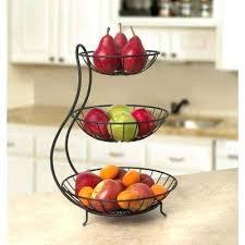 countertop fruit basket in x in x in steel arched 3 surpahs 2 tier countertop fruit basket stand