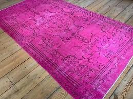 10 3 x 5 7 vintage hand knotted overdyed pink turkish wool