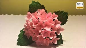 Diy Crepe Paper Flower Balls How To Make Hydrangea Paper Flower Diy Hydrangea Crepe Paper Flower Making Tutorials