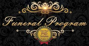 Funeral Program Free Flyer Psd Free Download 22836 Styleflyers