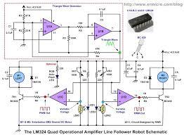 the lm324 quad op amp line follower robot pulse width the voltage control pwm