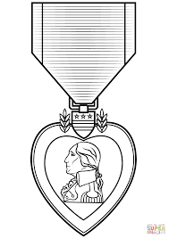 Small Picture Purple Heart Medal coloring page Free Printable Coloring Pages