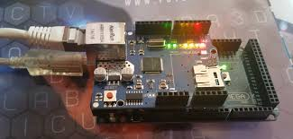 with the arduino mega board and the ethernet shield two low cost devices that will allow us through the ethernet connection with our adsl home
