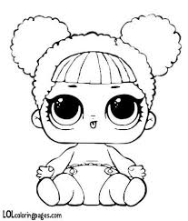 Lil Queen Bee Coloring Page Lol Surprise Doll Coloring Pag Card