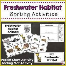 Animal Activity Chart Freshwater Habitat Animals Sorting Activities Sorting