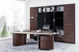 contemporary modern office furniture. Modrest Nolan Modern Brown Oak \u0026 Grey Desk Contemporary Office Furniture L