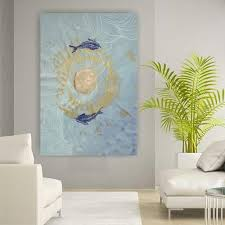 japan koi fishes zen large painting