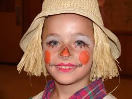 cute and friendly scarecrow face