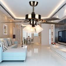 Us 29993 25 Offvintage Retro Stumm Eisen Glas Led E37 3 Deckenventilator Licht Für Wohnzimmer Esszimmer Schlafzimmer 4252 Zoll 80 265 V 2083