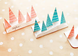 christmas placecard templates printable pop up winter forest place cards