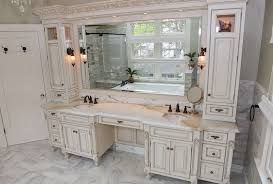 awesome gorgeous design double sink vanity with makeup table area home pertaining to double vanity with makeup area