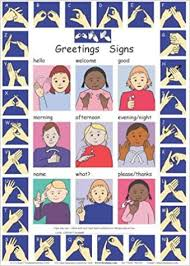 Lets Sign Bsl Greetings Signs And Fingerspelling A2