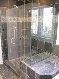 bathroom excellent bathrooms look using brown tile backsplash and tagged tiled shower stalls ideas