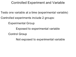 scientific method and experimental design