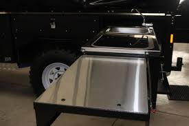 Camper Trailer Kitchen Another First Stainless Steel Kitchen Top