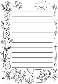 Spring Acrostic Poem Template Free Printable Papercraft