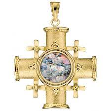 ben jewelry 14k gold and roman glass jerum cross pendant jewelry my jerum