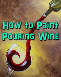 how to paint red wine step by step acrylic painting on canvas for beginners