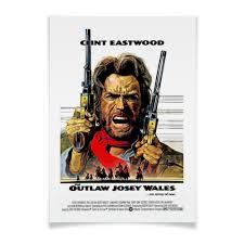 """Плакат A3(29.7x42) """"Clint Eastwood"""" #775847 от Leichenwagen ..."""