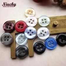 "Niucky 11mm 7/<b>16</b>"" 4 holes 14 colors Round edge <b>pearlescent</b> ..."