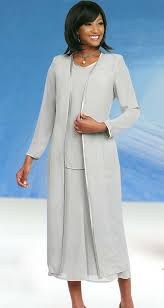 Misty Lane 13061 Silver Three Piece Church Choir Suit For Women