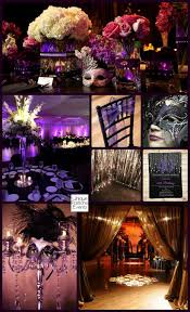 Decorations For Masquerade Ball Enchanting Moonlight Masquerade Ball In Black Purple And Silver IdeaBoard