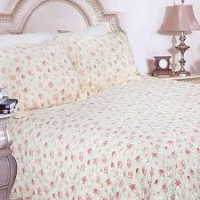 Pink Rose Garden King-size Quilt Set - Free Shipping Today ... & Pink Rose Garden King-size Quilt Set Adamdwight.com