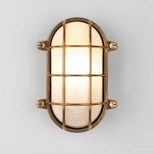 astro thurso coastal oval natural brass outdoor wall light