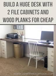 diy file cabinet desk. Unique Diy Come Learn How To Build A Huge Desk With 2 File Cabinets And Some Simple  Wood To Diy Cabinet H