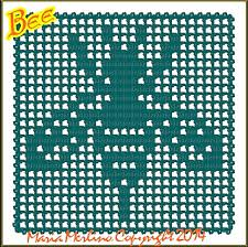 Filet Crochet Charts And Graphs Ravelry Bee Trapped In Filet Netting Chart Graph Pattern By