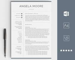 Modern Resume Etsy Modern Resume Template Professional Resume Template Modern