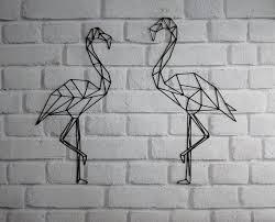 flamingo wall decor geometric bird bird