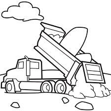 Dump Trucks Coloring Page