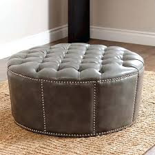 popular of large round ottoman and sophisticated large round leather ottoman round leather coffee table