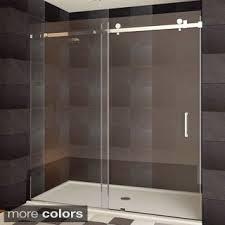 bypass shower door. LessCare ULTRA-B Semi-frameless Sliding Shower Doors Bypass Door