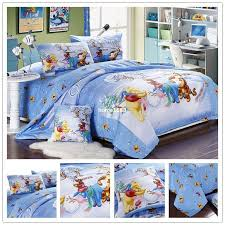 2019 cartoon winnie the pooh full queen king size bedding set 100 cotton bed clothes set duvet cover bed sheet pillowcase from home1688 120 49 dhgate