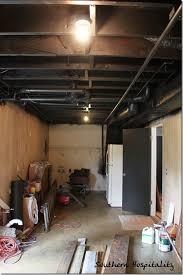 unfinished basement ceiling. Wonderful Unfinished Basement Ceiling Paint Really Encourage Interior Painted Black Regarding 19   For Unfinished