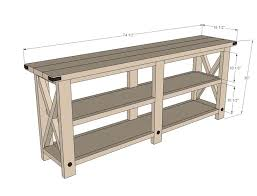 white rustic tv stand. full image for rustic tv console tables media table ana white build a stand