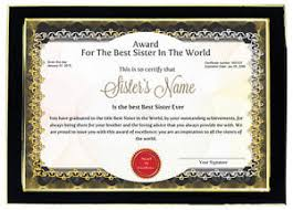 personalized award certificate best sister birthday raksha bandhan  personalized award certificate best sister birthday raksha bandhan bhaidooj gift