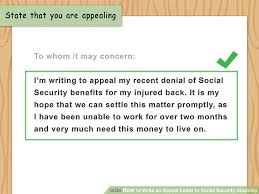 How To Write An Appeal Letter To Social Security Disability (With ...